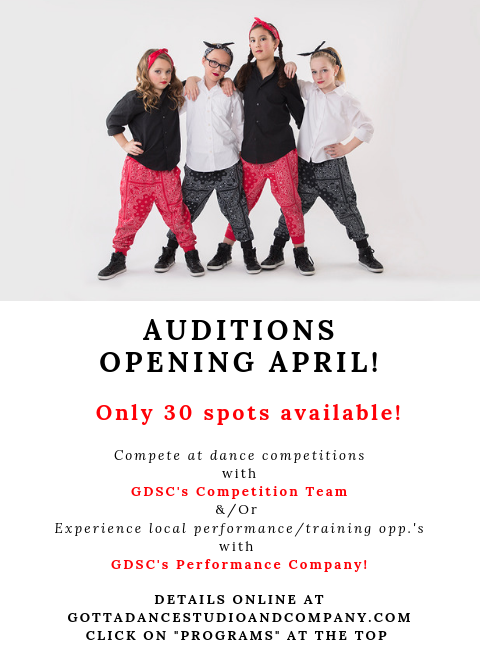 gotta-dance-studio-bend-auditions-april-2019